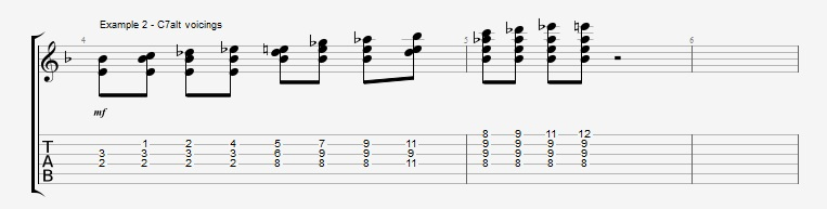 Adding Chords to Single Note Lines - Part 2 - ex 2