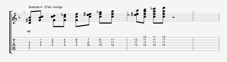 Adding Chords to Single Note Lines - Part 2 - ex 4