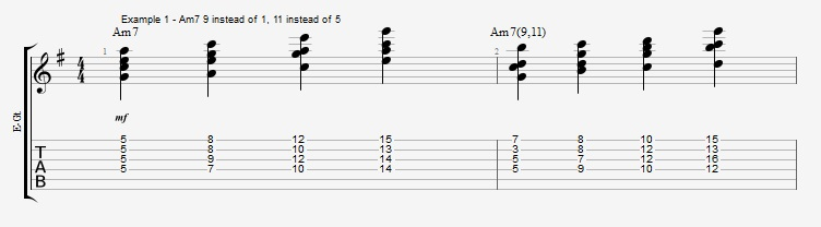 Jazz Chord Essentials - Drop 2 voicings part 3 - ex 1