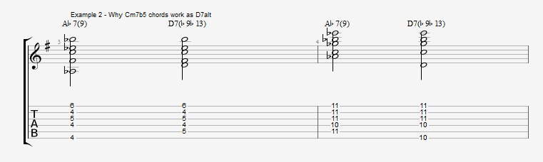 Jazz Chord Essentials - Drop 2 voicings part 3 - ex 2