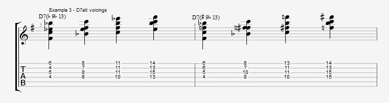 Jazz Chord Essentials - Drop 2 voicings part 3 - ex 3