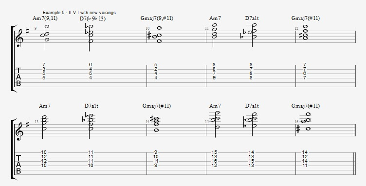 Jazz Chord Essentials - Drop 2 voicings part 3 - ex 5