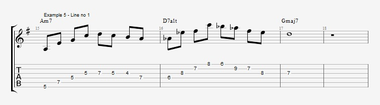 Drop2 voicings as Arpeggios - Ex 5