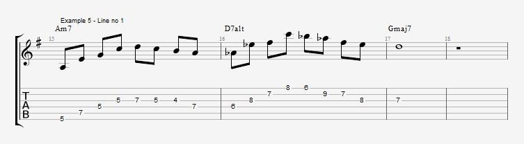 Drop2 voicings as Arpeggios - Ex 5