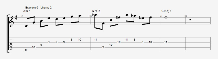 Drop2 voicings as Arpeggios - Ex 6
