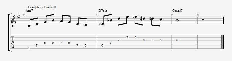 Drop2 voicings as Arpeggios - Ex 7