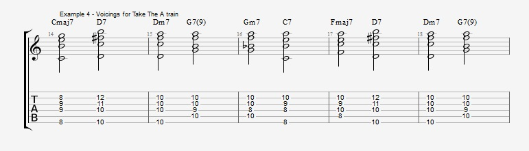 First II V I voicings ex 4