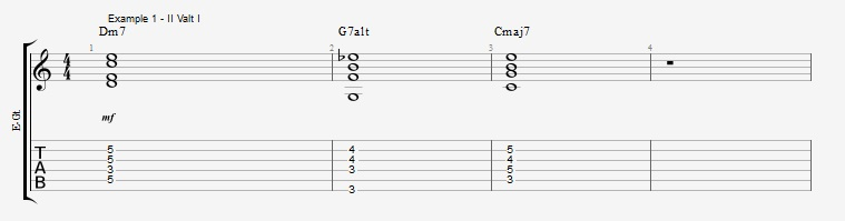Melodic Minor - Altered Scale in three approaches - ex 1