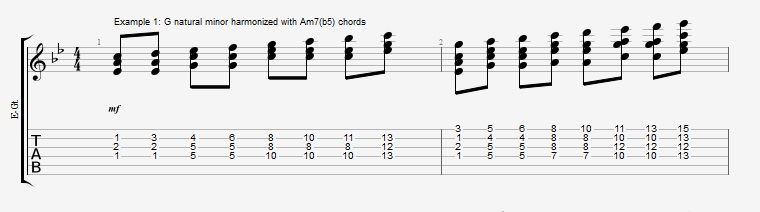Soloing with Chords Part 2 ex 1