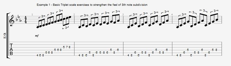 Triplet rhythms - Part 1 Ex 1