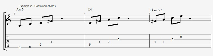 Minor 6th Pentatonic Scales ex 2