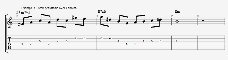 Minor 6th Pentatonic Scales ex 5