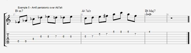 Minor 6th Pentatonic Scales ex 6