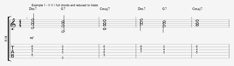 Rootless Voicings - Part 1 - Triads - ex 1
