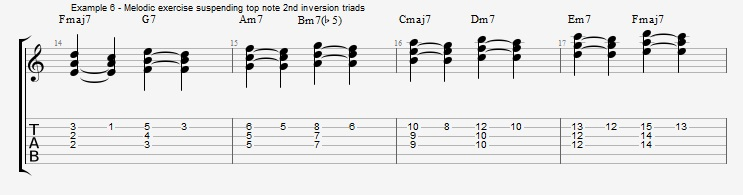 Rootless Voicings - Part 1 - Triads - ex 6