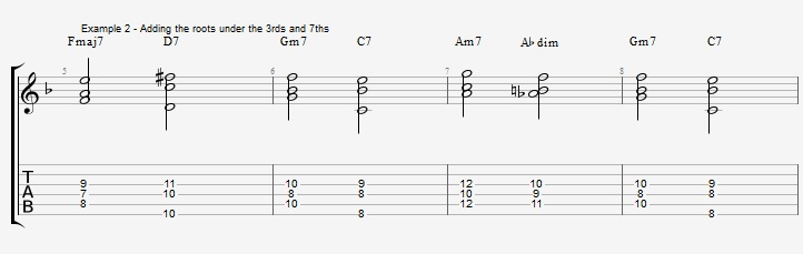 Building chords from 3rd and 7th ex 2