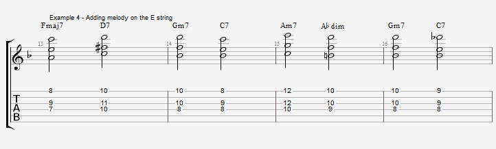 Building chords from 3rd and 7th ex 4