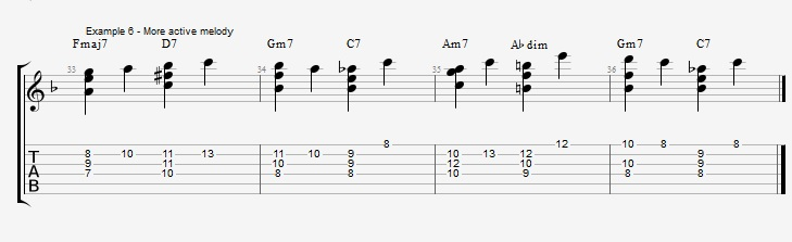 Building chords from 3rd and 7th ex 6