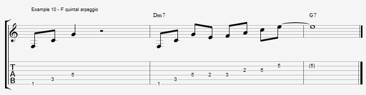 What can you play over a IIm7 chord ex 10