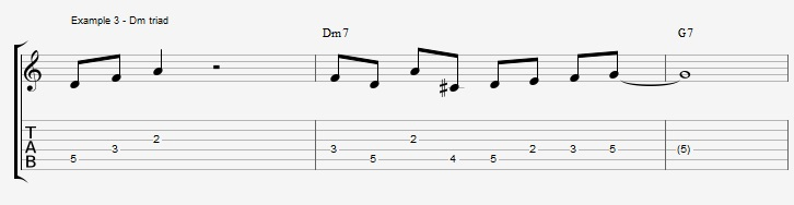 What can you play over a IIm7 chord ex 3