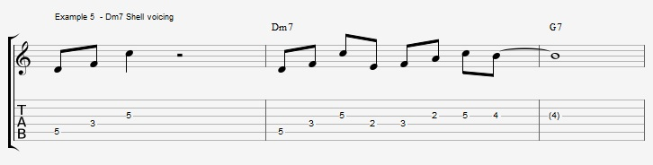 What can you play over a IIm7 chord ex 5