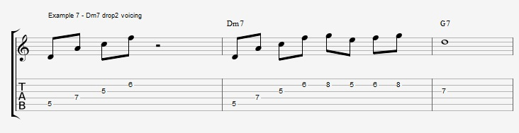 What can you play over a IIm7 chord ex 7