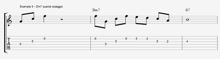 What can you play over a IIm7 chord ex 9