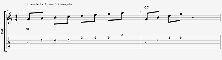 How to improvise with an arpeggio ex 1