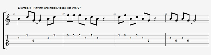 How to improvise with an arpeggio ex 5