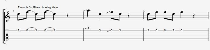 Making Jazz lines sound bluesy ex 3