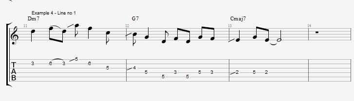 Making Jazz lines sound bluesy ex 4