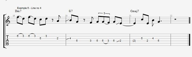Making Jazz lines sound bluesy ex 6