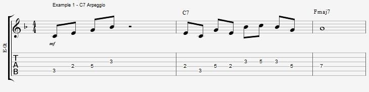 10 arpeggios over a dom7th chord - ex 1