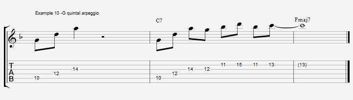10 arpeggios over a dom7th chord - ex 10