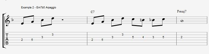 10 arpeggios over a dom7th chord - ex 2