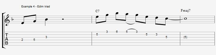 10 arpeggios over a dom7th chord - ex 4