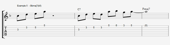 10 arpeggios over a dom7th chord - ex 5