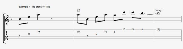 10 arpeggios over a dom7th chord - ex 7