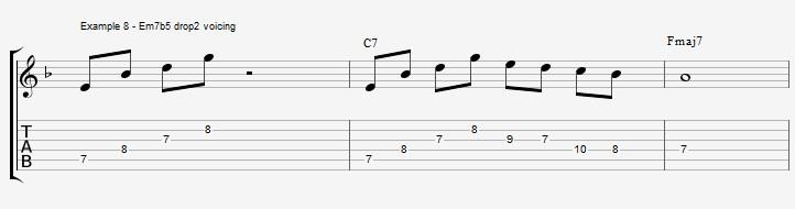 10 arpeggios over a dom7th chord - ex 8