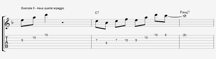 10 arpeggios over a dom7th chord - ex 9