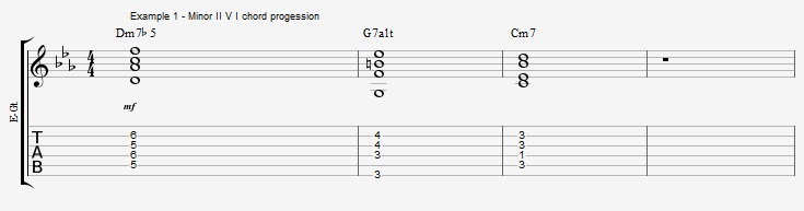 How to improvise over a minor II V I with arpeggios ex 1