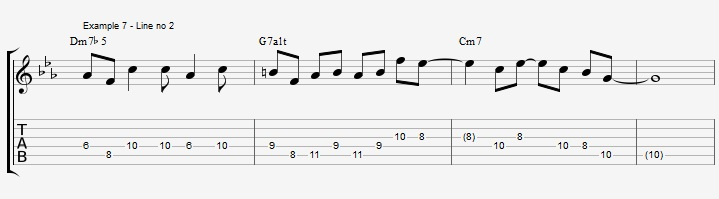 How to improvise over a minor II V I with arpeggios ex 7