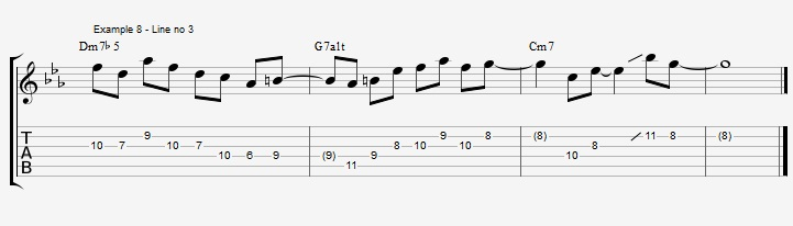 How to improvise over a minor II V I with arpeggios ex 8
