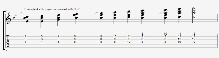 Bb Jazz Blues Chord Solo - Ex 4
