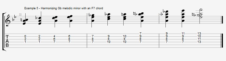 Bb Jazz Blues Chord Solo - Ex 5