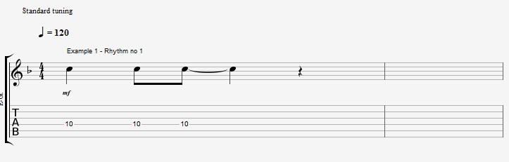 Rhythm exercise on a Jazz Blues ex 1