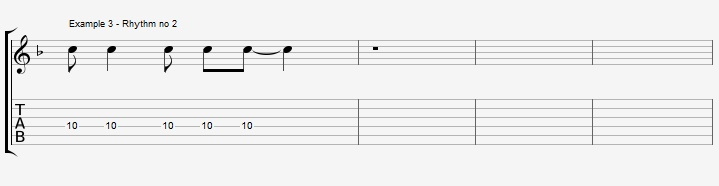 Rhythm exercise on a Jazz Blues ex 3