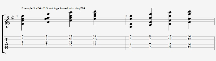 Drop2&4 voicings - Part 1 - ex 5