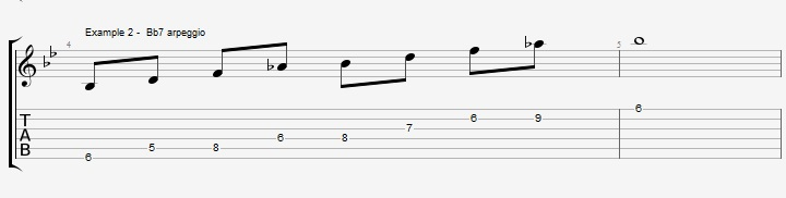 5 Bb Jazz Blues licks - ex 2