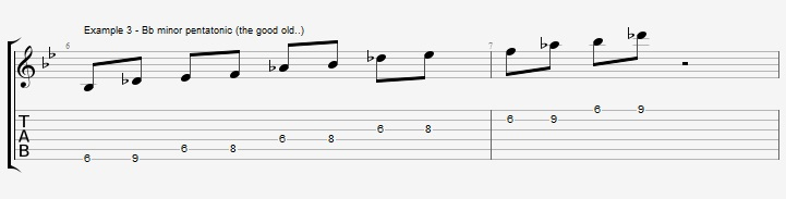 5 Bb Jazz Blues licks - ex 3